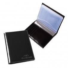 """Бумажник водителя BEFLER """"Classic"""", натуральная кожа, тиснение, 6 пластиковых карманов, черный, BV.20.-1"""
