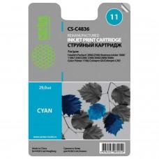 Картридж струйный CACTUS (CS-C4836A) для HP DesignJet 70/100/110/120, голубой, 29 мл