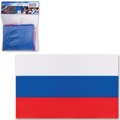 Флаг России, 70х105 см, карман под древко, упаковка с европодвесом, 550018