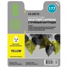 Картридж струйный CACTUS (CS-C8773) для HP Photosmart C7283/C8183, желтый, 11,4 мл