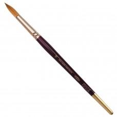 Кисть художественная KOH-I-NOOR колонок, круглая, №16, короткая ручка, блистер, 9935016010BL