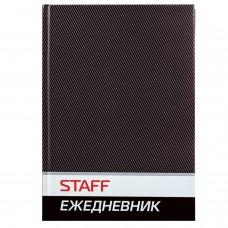 Ежедневник недатированный А5 (145х215 мм), ламинированная обложка, 128 л., STAFF, черный, 127055
