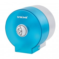 Диспенсер для туалетной бумаги в стандартных рулонах, КРУГЛЫЙ, тонированный голубой, ЛАЙМА, 605045