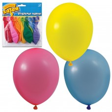 """Шары воздушные 10"""" (25 см), комплект 10 шт., 10 пастельных цветов, в упаковке с европодвесом, 1111-0104"""