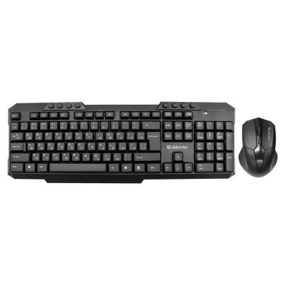 Набор беспроводной DEFENDER Jakarta C-805,клавиатура, мышь 3 кнопки+1 колесо-кнопка, черный, 45805, 45805