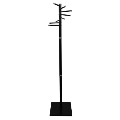 """Вешалка-стойка """"Мажор-3"""", 1,75 м, основание 37х37 см, 8 крючков, металл, черная"""