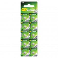 Батарейка GP Alkaline 177 (G4, LR626), алкалиновая, 1 шт., в блистере (отрывной блок), 4891199026690