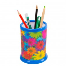 "Подставка-стакан для канцелярских принадлежностей BRAUBERG, 3D-эффект, ""Цветы"", D 87x106 мм, 236443"
