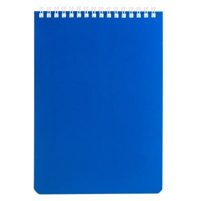 Блокнот А5 (146х205 мм) 60 л., гребень, перфорация на отрыв, лакированный, BRAUBERG, Синий, 111274