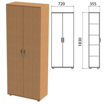 "Дверь ЛДСП высокая ""Эко"", КОМПЛЕКТ 2 шт., 355х18х1756 мм, бук бавария, 402899, 402899-550"
