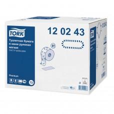 Бумага туалетная 170 м, TORK (Система Т2), КОМПЛЕКТ 12 штук, Premium, 2-слойная, белая, 120243