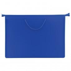 Папка для рисунков и чертежей А3, ручки-шнурок, пластик, молния сверху, ПИФАГОР, синяя, 228229