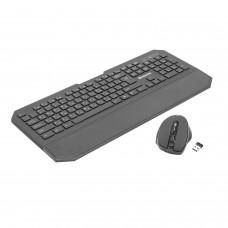 Набор беспроводной DEFENDER Berkeley C-925, клавиатура, мышь 5 кнопок + 1 колесо-кнопка, черный, 45925