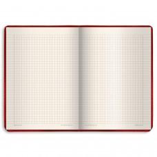 """Блокнот БОЛЬШОЙ ФОРМАТ (200х252 мм) А4, BRAUBERG """"Income"""", 128 л., гладкий кожзаменитель, клетка, красный, 125205"""
