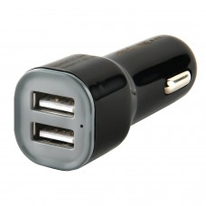 Зарядное устройство автомобильное, RED LINE AC-1A, кабель для IPhone (iPad) 1м, 2 порта USB, выходной ток 1 А, черное, УТ000012245