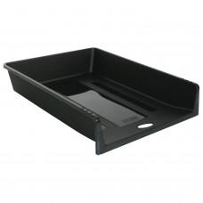 """Лоток горизонтальный для бумаг СТАММ """"1 в 1"""", А4 (340х265х60 мм), черный, ЛТ152"""