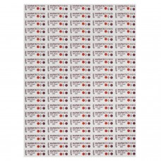 Индикатор стерилизации ВИНАР ФАРМАТЕСТ-110/10, комплект 500 шт., без журнала, 7
