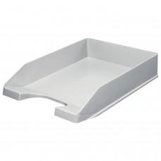 "Лоток горизонтальный для бумаг СТАММ ""Стандарт"", А4 (345х250х65 мм), серый, ЛТ21"