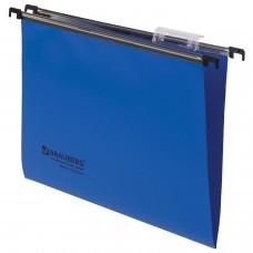 Подвесные папки А4 (350х245 мм), до 80 листов, КОМПЛЕКТ 5 шт., пластик, синие, BRAUBERG (Италия), 231797