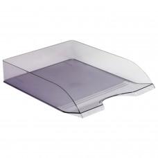 """Лоток горизонтальный для бумаг СТАММ """"Дельта"""", А4 (315х250х60 мм), тонированный серый, ЛТ653"""