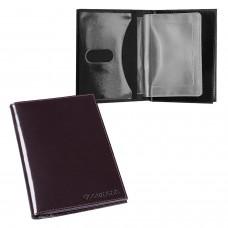 """Бумажник водителя BEFLER """"Classic"""", натуральная кожа, тиснение, 6 пластиковых карманов, коричневый, BV.22.-1"""