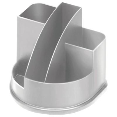 """Подставка-органайзер СТАММ """"Авангард"""", 132х122х108 мм, 5 отделений, серая, ОР51"""
