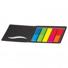 Закладки клейкие HOPAX НЕОНОВЫЕ, пластиковые, 12х45 мм, 5 цветов х 25 листов, в обложке, европодвес, 21076