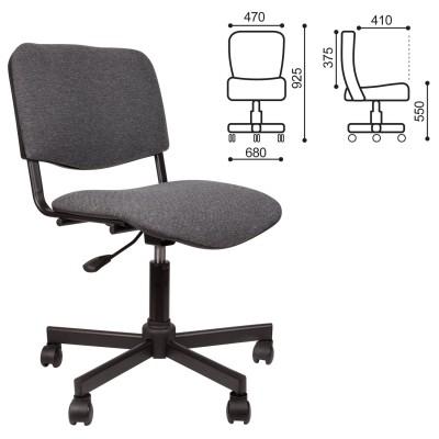 Кресло КР09, без подлокотников, серое, КР01.00.09-102-