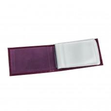 """Визитница карманная BEFLER """"Изящная кошка"""" на 40 визиток, натуральная кожа, тиснение, фиолетовая, V.37.-1"""