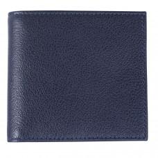 "Портмоне мужское BEFLER ""Грейд"", 125х95 мм, натуральная кожа, на кнопке, синее, РМ.22.-9"
