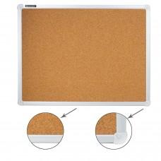 Доска пробковая для объявлений (45х60 см), алюминиевая рамка, ГАРАНТИЯ 10 ЛЕТ, РОССИЯ, BRAUBERG, 231711