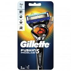 """Бритва GILLETTE (Жиллет) """"Fusion ProGlide"""", с 2 сменными кассетами, для мужчин"""