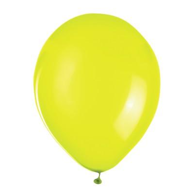 """Шары воздушные ZIPPY (ЗИППИ) 10"""" (25 см), комплект 50 шт., неоновые желтые, в пакете, 104185"""