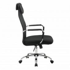 """Кресло офисное BRABIX """"Fit EX-514"""", с подголовником, хром, черное, 531949"""