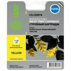 Картридж струйный CACTUS (CS-CD974) для HP Officejet 6000/6500/7000, желтый, 11 мл