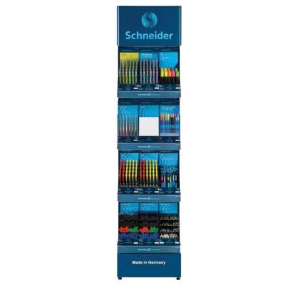 Стойка для размещения товара напольная SCHNEIDER, 210х50х36 см, 4 полки, подсветка, металлическая, 260001
