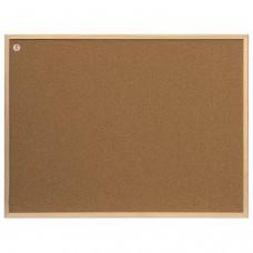 """Доска пробковая для объявлений (80x60 см), ECO, деревянная рамка, """"2х3"""" (Польша), TC86/C"""