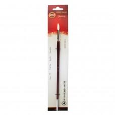 Кисть художественная KOH-I-NOOR щетина, круглая, №4, длинная ручка, блистер, 9935004014BL