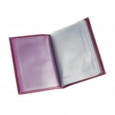 """Бумажник водителя BEFLER """"Изящная кошка"""", натуральная кожа, тиснение, 6 пластиковых карманов, фиолетовый, BV.35.-1"""