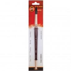 Кисть художественная KOH-I-NOOR белка, круглая, №18, короткая ручка, блистер, 9935018017BL