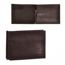 """Зажим для купюр BEFLER """"Грейд"""", натуральная кожа, тиснение, 120х86 мм, коричневый, Z.9.-9"""