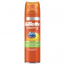 """Гель для бритья 200 мл, GILLETTE (Жиллет) Fusion, """"Для чувствительной кожи"""", для мужчин"""