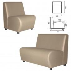 "Кресло мягкое ""Клауд"", ""V-600"", 550х750х780 мм, без подлокотников, экокожа, бежевое"