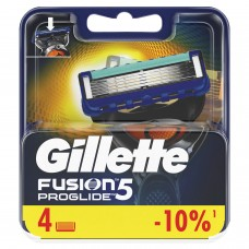 """Сменные кассеты для бритья 4 шт., GILLETTE (Жиллет) """"Fusion ProGlide"""", для мужчин"""