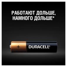 Батарейки КОМПЛЕКТ 4 шт., DURACELL Basic, AAA (LR03, 24А), алкалиновые, мизинчиковые, блистер, MN 2400 AAA LR3