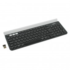 Клавиатура беспроводная LOGITECH K780, для ПК, планшета, смартфона, 97 клавиш + 6 дополнительных клавиш, черно-белая, 920-008043