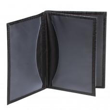 """Бумажник водителя BEFLER """"Кайман"""", натуральная кожа, тиснение, 6 пластиковых карманов, черный, BV.22.-13"""