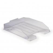 "Лоток горизонтальный для бумаг СТАММ ""Эксперт"", А4 (340х255х63 мм), прозрачный, ЛТ202"