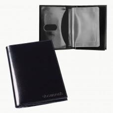 """Бумажник водителя BEFLER """"Classic"""", натуральная кожа, тиснение, 6 пластиковых карманов, черный, BV.22.-1"""