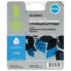Картридж струйный CACTUS (CS-CD972) для HP Officejet 6000/6500/7000, голубой, 11 мл